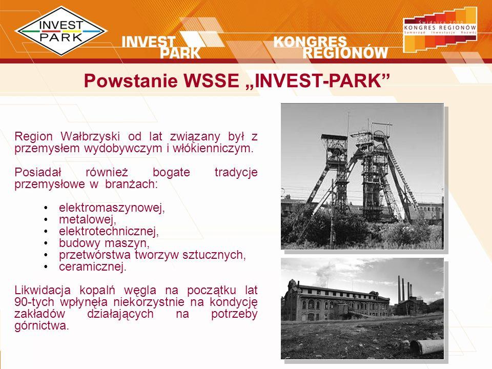 Region Wałbrzyski od lat związany był z przemysłem wydobywczym i włókienniczym. Posiadał również bogate tradycje przemysłowe w branżach: elektromaszyn