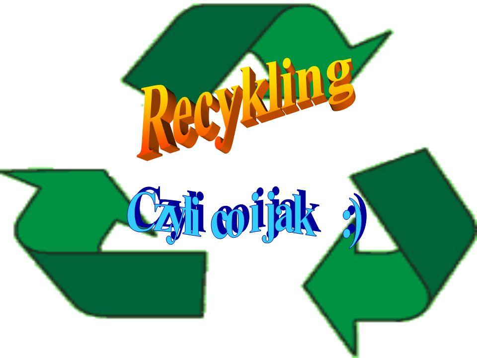 Inne Przykłady: Ekologiczny papier toaletowy Butelki – wytwarzane ze szklanej stłuczki Zeszyty z ekologicznego papieru Ze złomowanych samochodów robi się puszki Utylizowanie baterii w specjalnych pojemnikach w celu ich dalszego wykorzystania