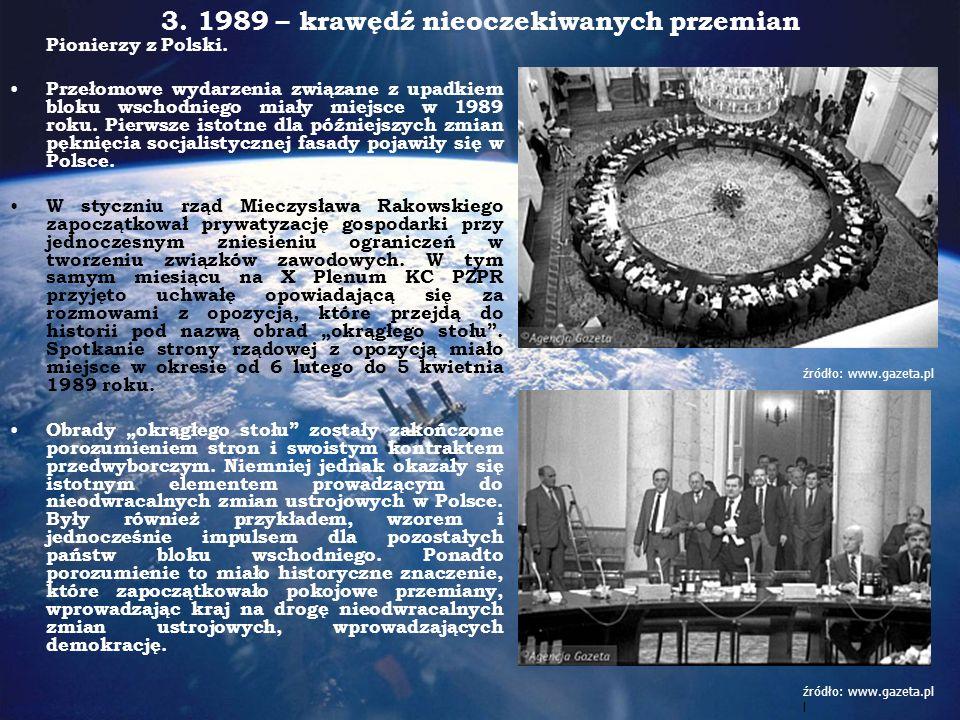 Postanowienia Okrągłego Stołu Głównymi postanowieniami obrad był parytetowy przydział liczby miejsc w Sejmie w najbliższych wyborach parlamentarnych.