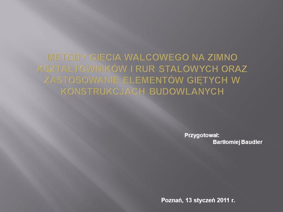 Poznań, 13 styczeń 2011 r. Przygotował: Bartłomiej Baudler