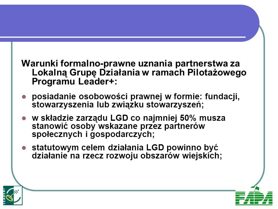 Kryteria wyboru projektów do Schematu II PPL+ mające wpływ na skład zarządu: 1 ) zrównoważony udział mężczyzn i kobiet w strukturze zarządu – żadna z płci nie stanowi więcej niż 40% składu; 2) kwalifikacje osób zarządzających projektem (wykształcenie średnie lub wyższe, ukończenie kursów z zakresu rolnictwa i/lub rozwoju obszarów wiejskich); 3) doświadczenie osób zarządzających projektem uczestnictwo w realizacji projektu/projektów na rzecz rozwoju obszarów wiejskich (realizacja co najmniej 1 projektu współfinansowanego ze środków UE, np.