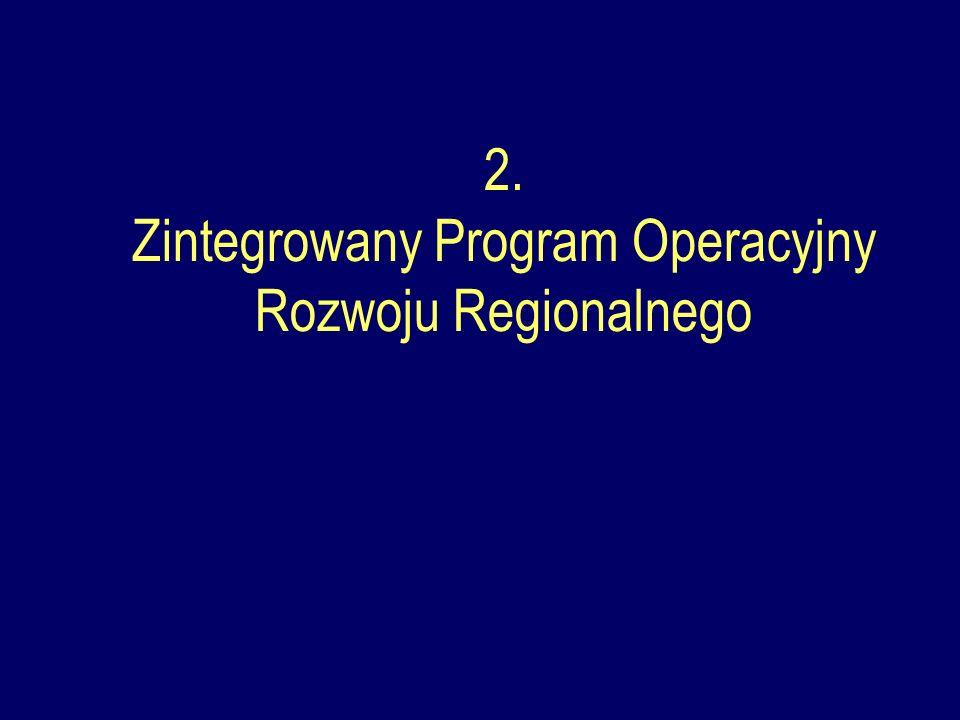 2. Zintegrowany Program Operacyjny Rozwoju Regionalnego
