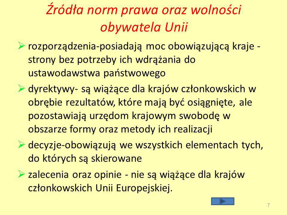 Prawa I.polityczne II.ekonomiczne III.socjalne(społeczne) IV.obywatelskie* 8