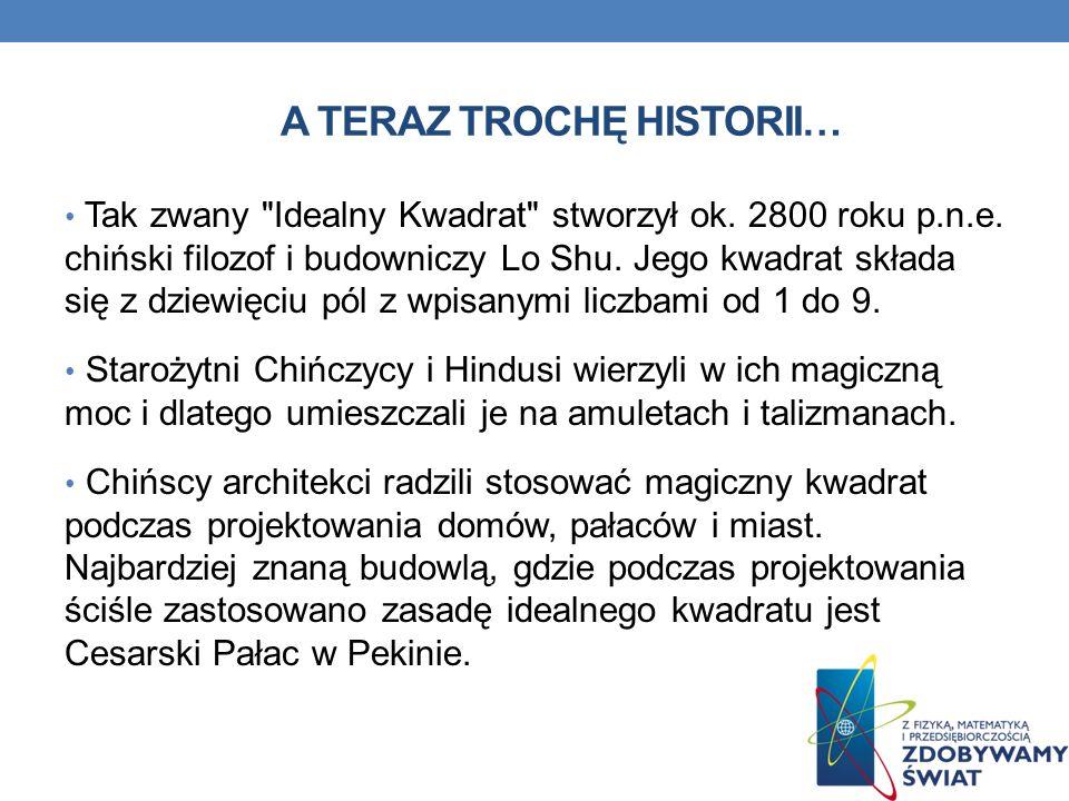 A TERAZ TROCHĘ HISTORII… Tak zwany