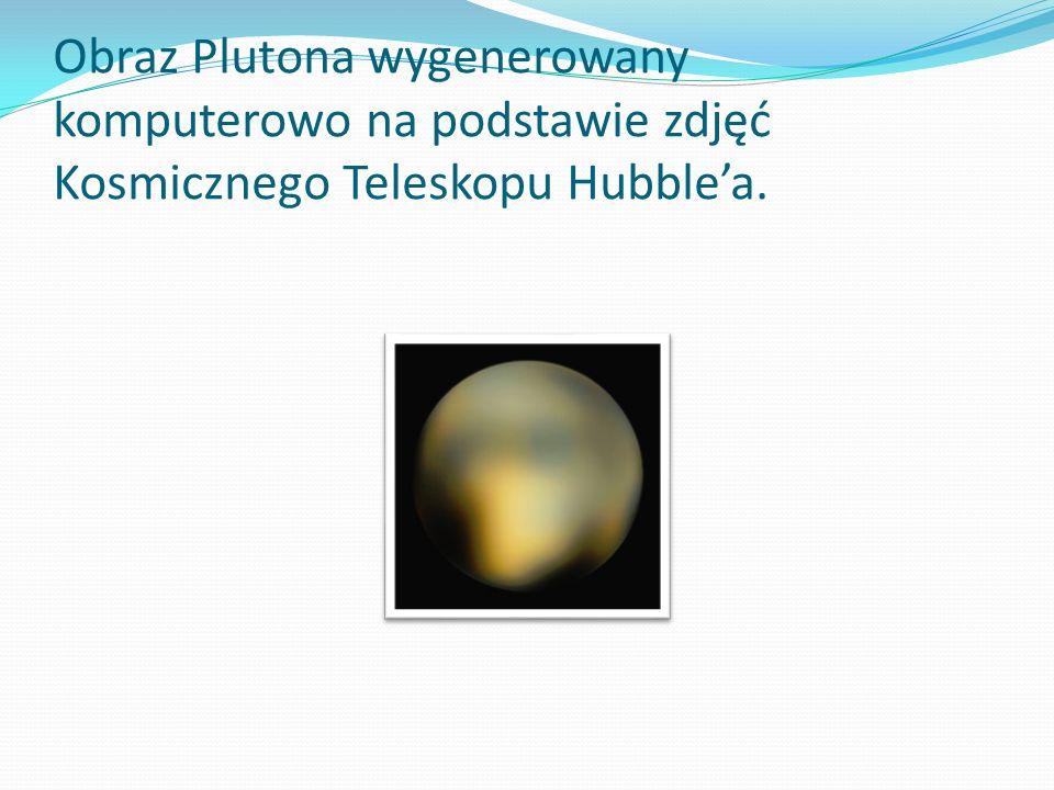 Obraz Plutona wygenerowany komputerowo na podstawie zdjęć Kosmicznego Teleskopu Hubblea.