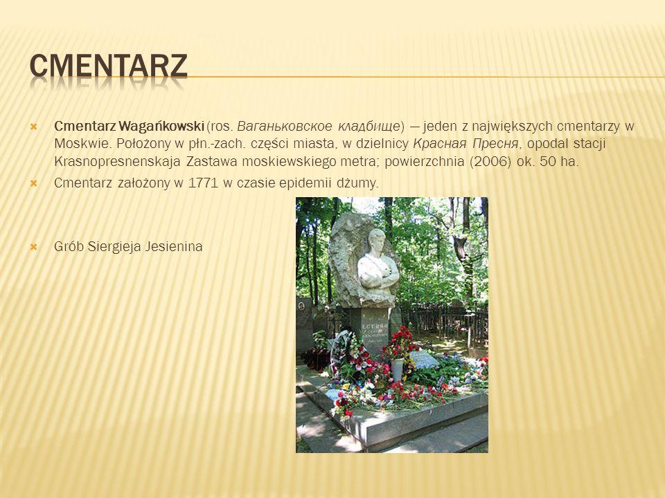 Cmentarz Wagańkowski (ros.Ваганьковское кладбище) jeden z największych cmentarzy w Moskwie.