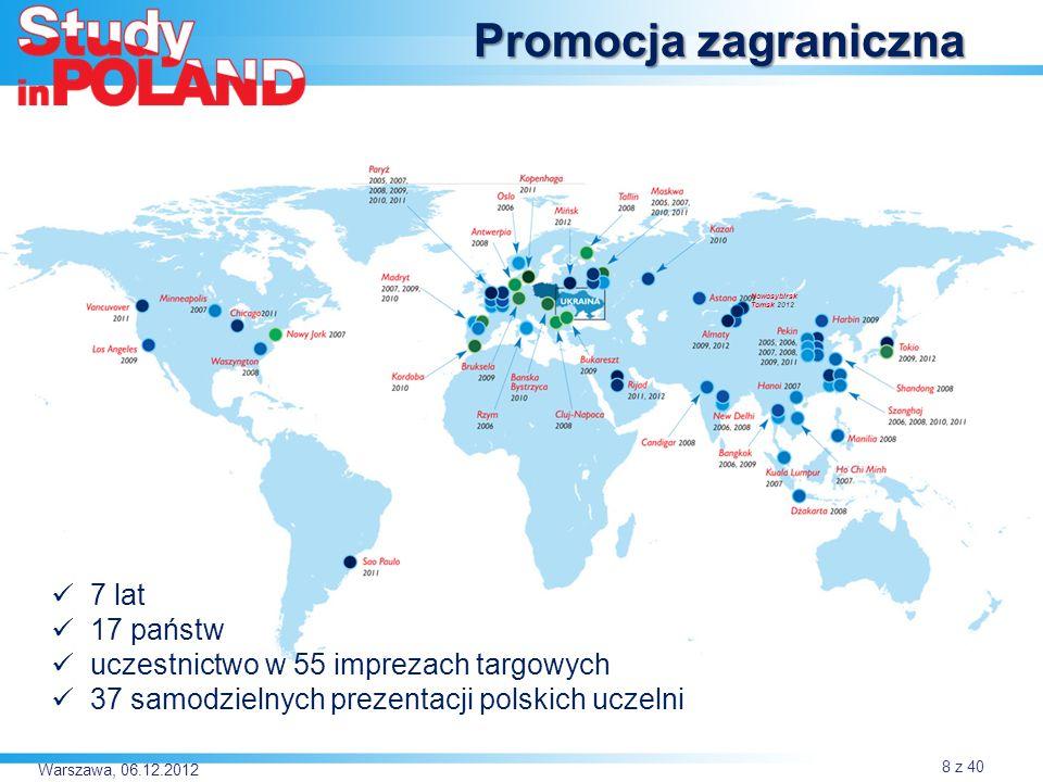 Warszawa, 06.12.2012 Priorytet Ukraina Nowosybirsk Tomsk 2012 9 z 40