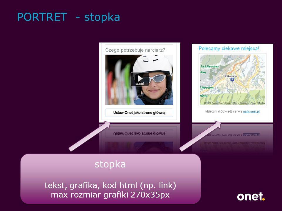 PORTRET - stopka stopka tekst, grafika, kod html (np.