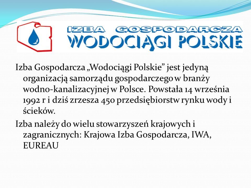 Izba Gospodarcza Wodociągi Polskie jest jedyną organizacją samorządu gospodarczego w branży wodno-kanalizacyjnej w Polsce. Powstała 14 września 1992 r