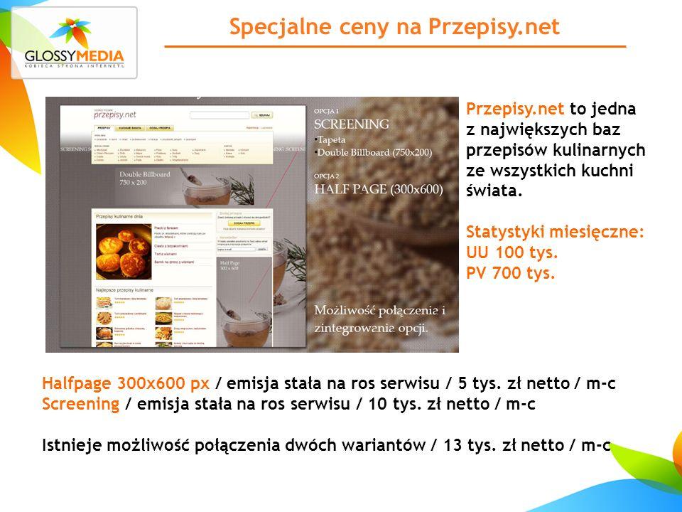 Specjalne ceny na Przepisy.net Przepisy.net to jedna z największych baz przepisów kulinarnych ze wszystkich kuchni świata.