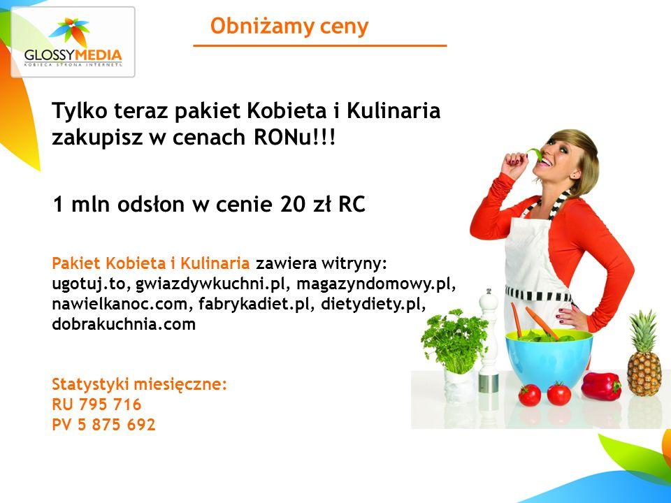 Obniżamy ceny Tylko teraz pakiet Kobieta i Kulinaria zakupisz w cenach RONu!!.