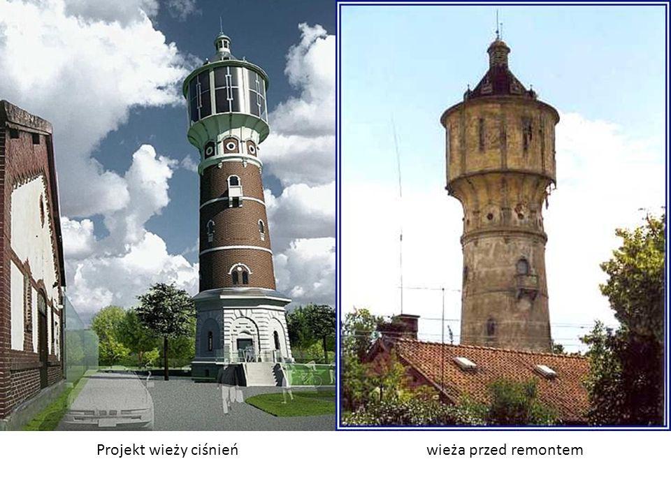 Projekt wieży ciśnień wieża przed remontem