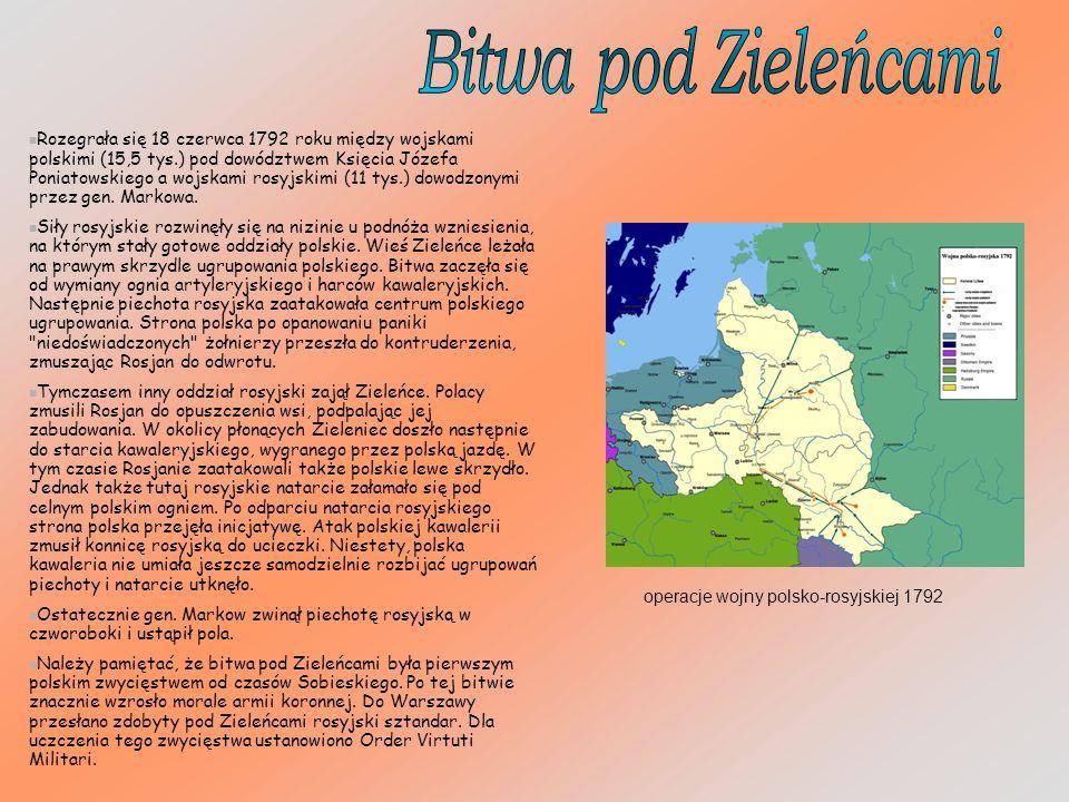 Rozegrała się 18 czerwca 1792 roku między wojskami polskimi (15,5 tys.) pod dowództwem Księcia Józefa Poniatowskiego a wojskami rosyjskimi (11 tys.) dowodzonymi przez gen.