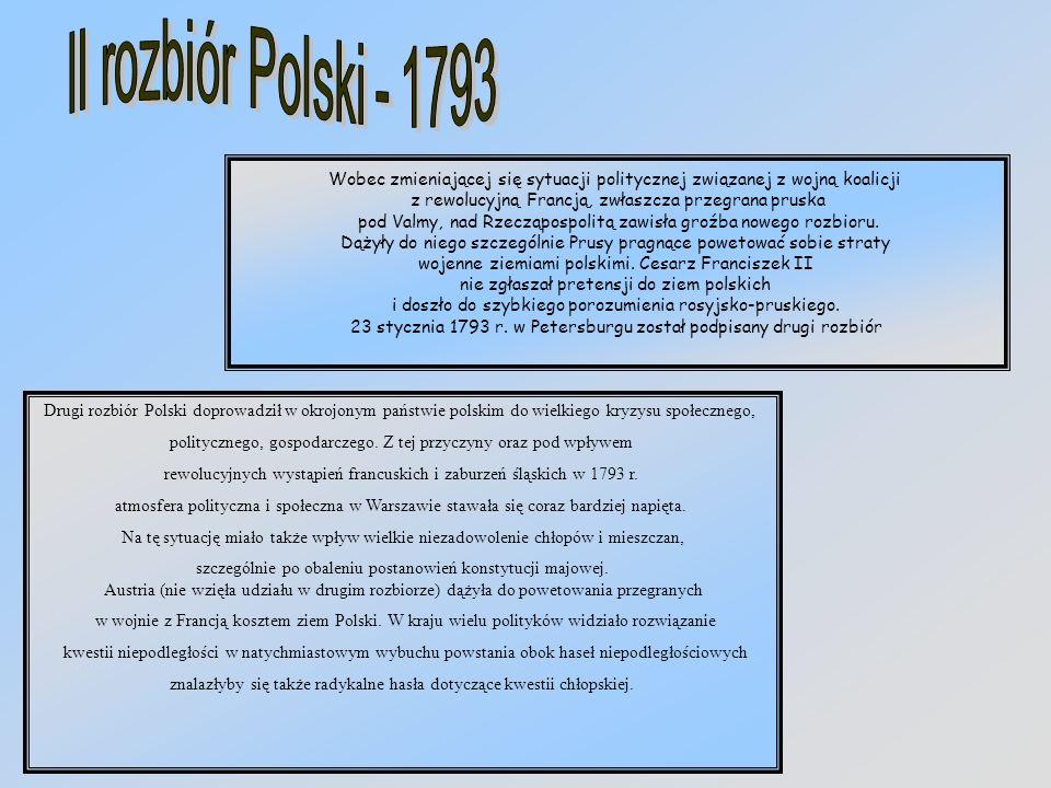 Wobec zmieniającej się sytuacji politycznej związanej z wojną koalicji z rewolucyjną Francją, zwłaszcza przegrana pruska pod Valmy, nad Rzecząpospolitą zawisła groźba nowego rozbioru.