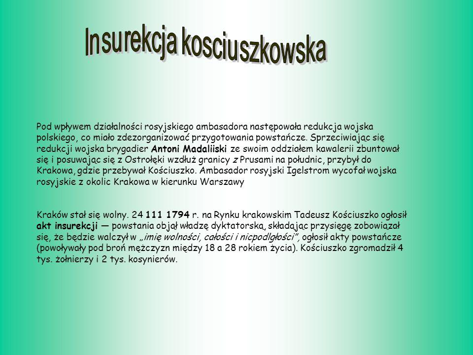 Pod wpływem działalności rosyjskiego ambasadora następowała redukcja wojska polskiego, co miało zdezorganizować przygotowania powstańcze.