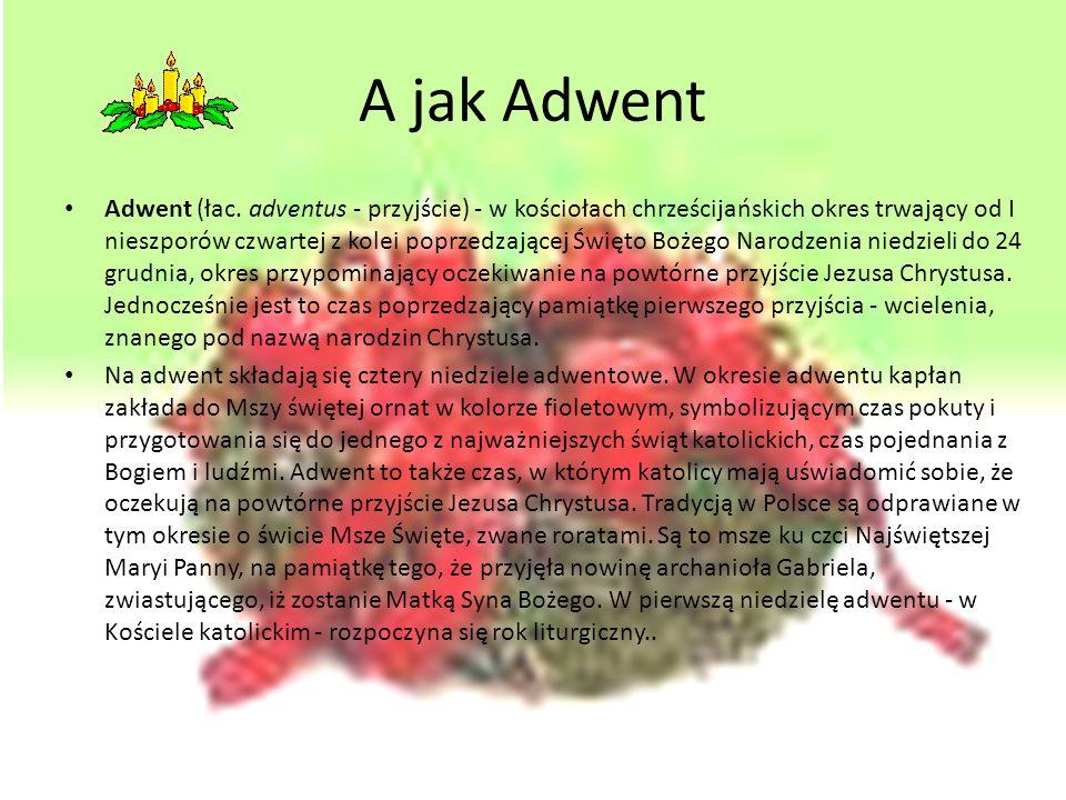 Tradycje bożonarodzeniowe w Polsce Prezentację przygotowała Agata Iwanicka klasa VID.