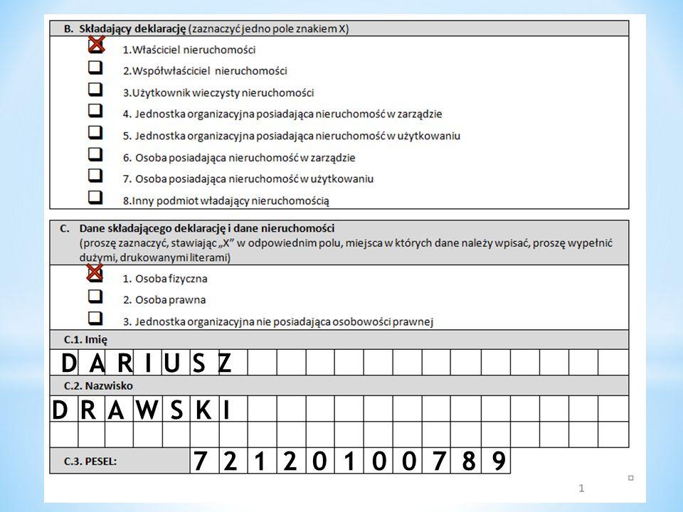 DARIUSZ DRAWSKI 72120100789