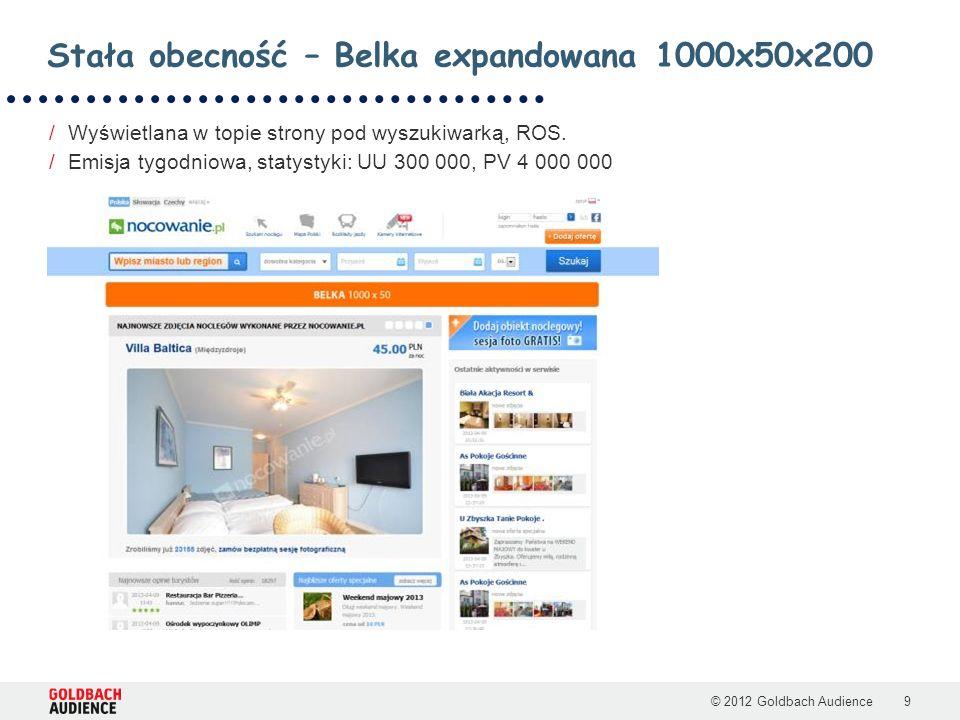 © 2012 Goldbach Audience9 /Wyświetlana w topie strony pod wyszukiwarką, ROS.