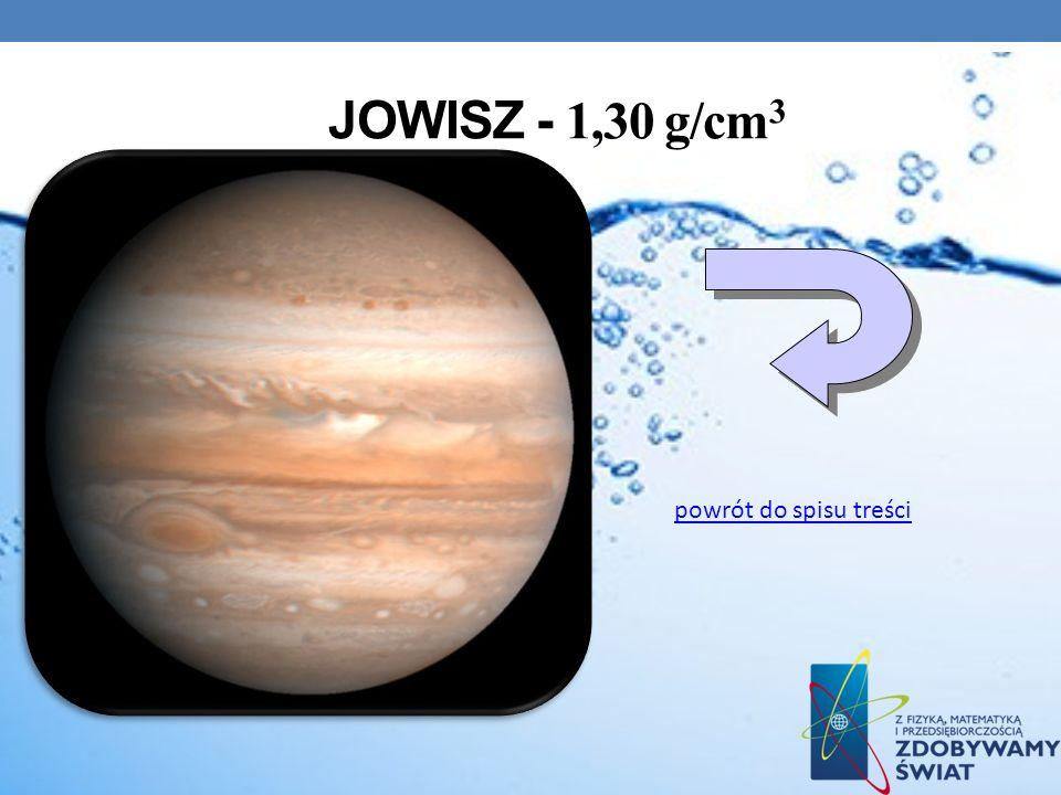 JOWISZ - 1,30 g/cm 3 powrót do spisu treści