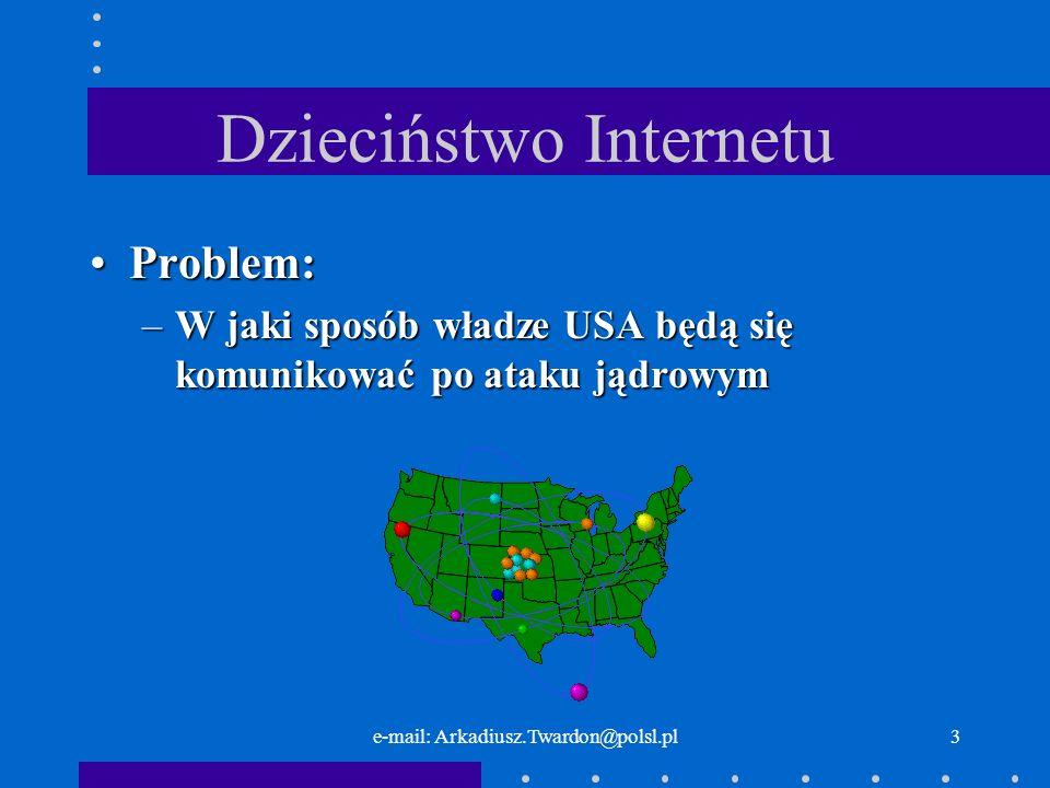 e-mail: Arkadiusz.Twardon@polsl.pl2 Internet – kosmiczne początki Sputnik 1 (ros.