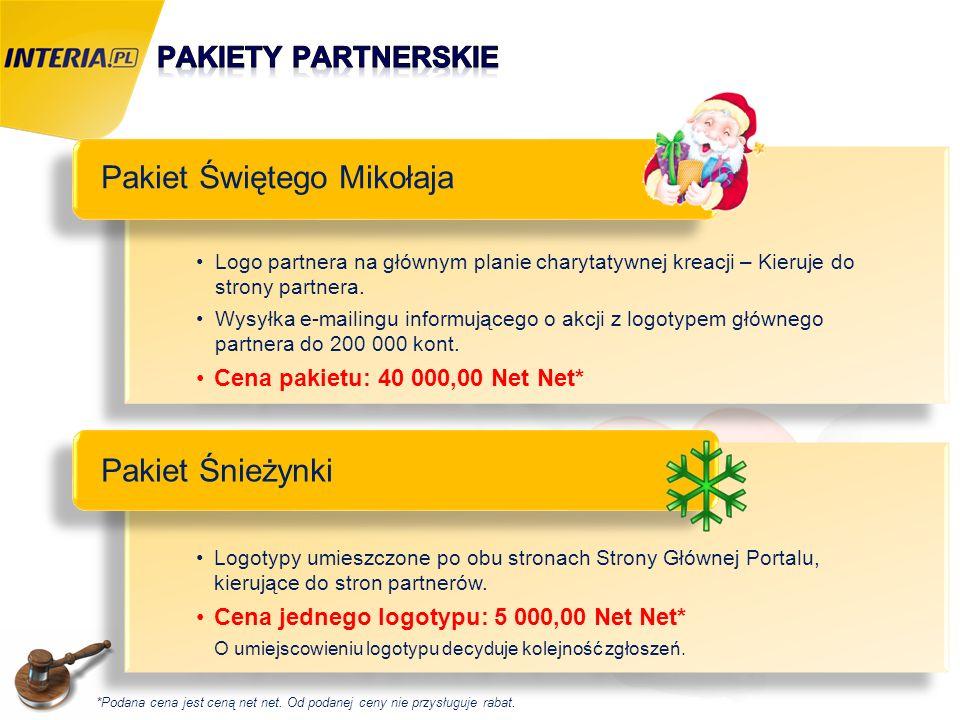 Logo partnera na głównym planie charytatywnej kreacji – Kieruje do strony partnera. Wysyłka e-mailingu informującego o akcji z logotypem głównego part