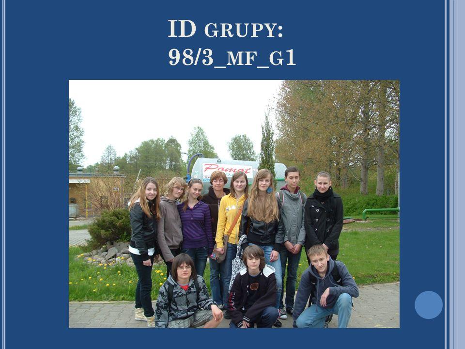 ID GRUPY : 98/3_ MF _ G 1
