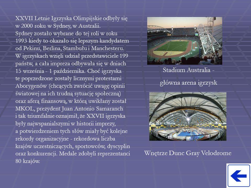 XXVII Letnie Igrzyska Olimpijskie odbyły się w 2000 roku w Sydney, w Australii. Sydney zostało wybrane do tej roli w roku 1993 kiedy to okazało się le