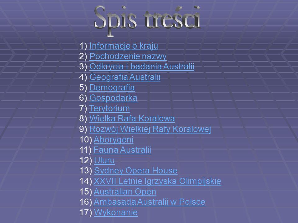 Australia (Związek Australijski, Commonwealth of Australia) – kraj położony na półkuli południowej, obejmujący najmniejszy kontynent świata, wyspę Tasmanię i inne znacznie mniejsze wyspy na Oceanie Indyjskim i Spokojnym.