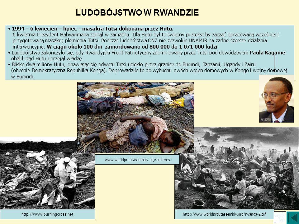 http://www.worldproutassembly.org/rwanda-2.gif http://www.burningcross.net www.worldproutassembly.org/archives. LUDOBÓJSTWO W RWANDZIE 1994 – 6 kwieci