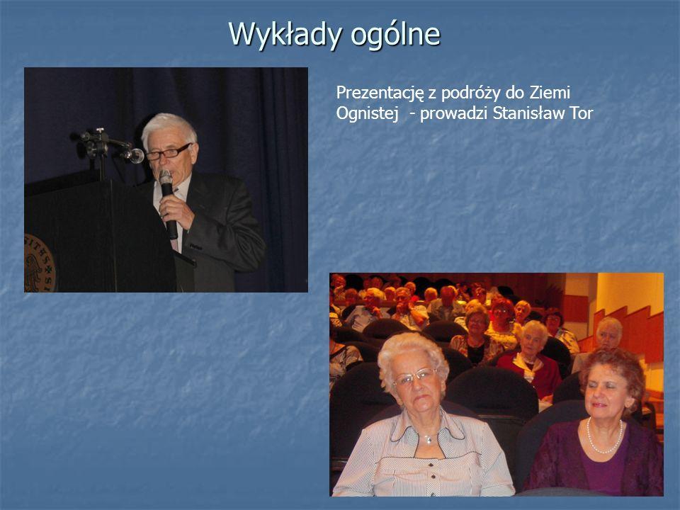 Prezentację z podróży do Ziemi Ognistej - prowadzi Stanisław Tor