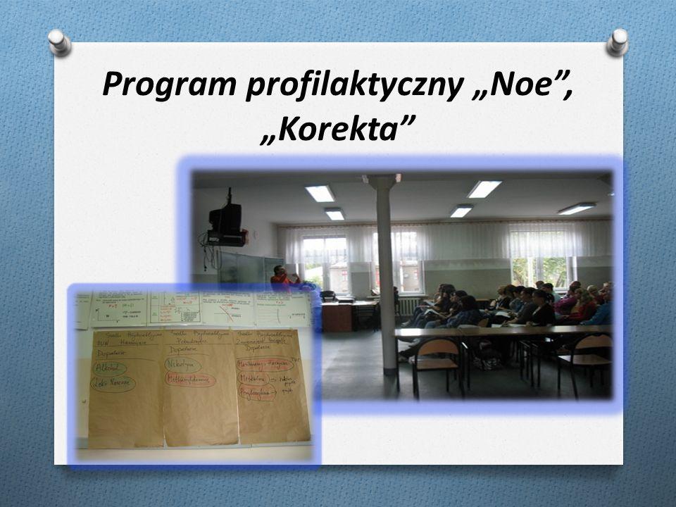 Program profilaktyczny Noe, Korekta