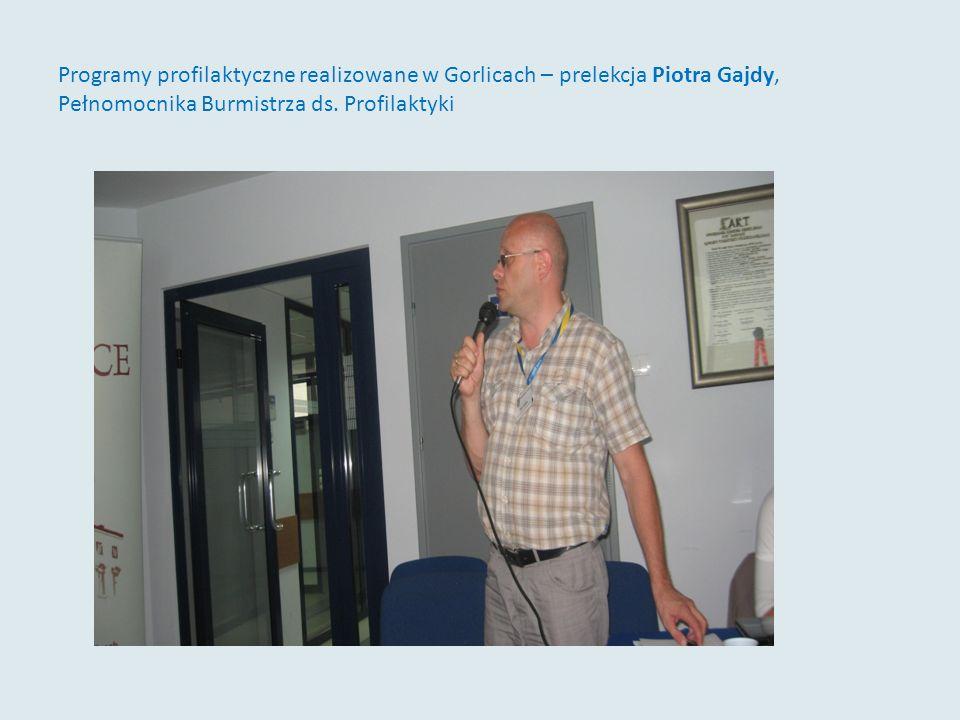 Programy profilaktyczne realizowane w Gorlicach – prelekcja Piotra Gajdy, Pełnomocnika Burmistrza ds. Profilaktyki