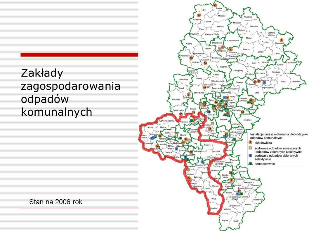 Zakłady zagospodarowania odpadów komunalnych Stan na 2006 rok