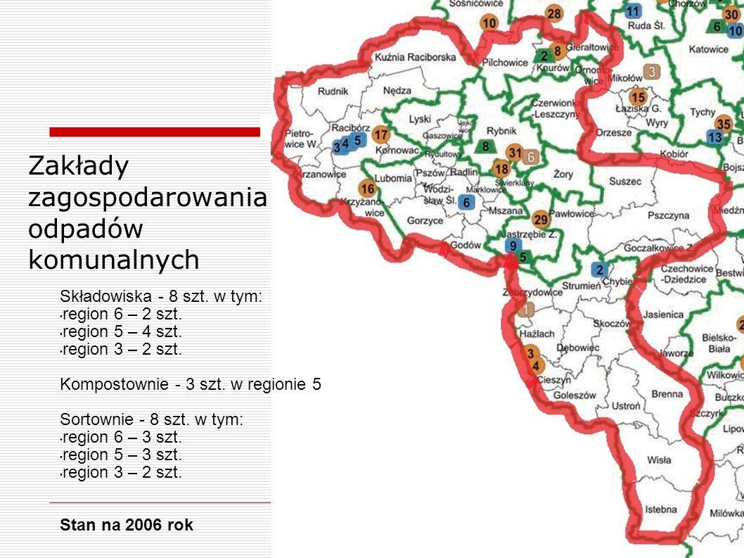 Zakłady zagospodarowania odpadów komunalnych Składowiska - 8 szt.