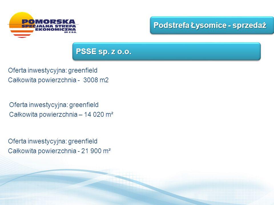 Podstrefa Łysomice - sprzedaż PSSE sp. z o.o.
