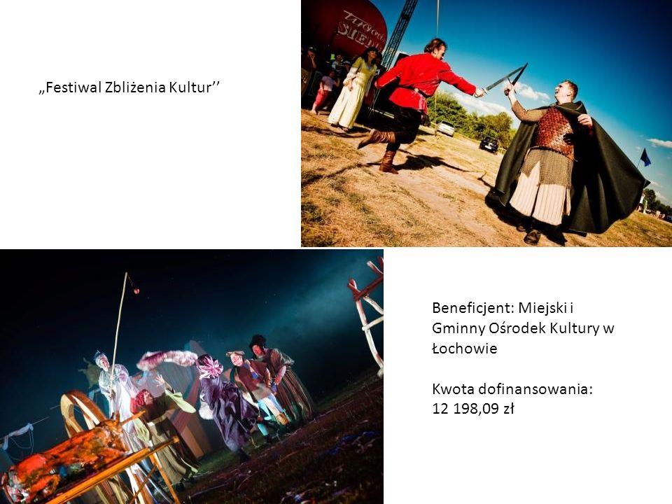 Festiwal Zbliżenia Kultur Beneficjent: Miejski i Gminny Ośrodek Kultury w Łochowie Kwota dofinansowania: 12 198,09 zł