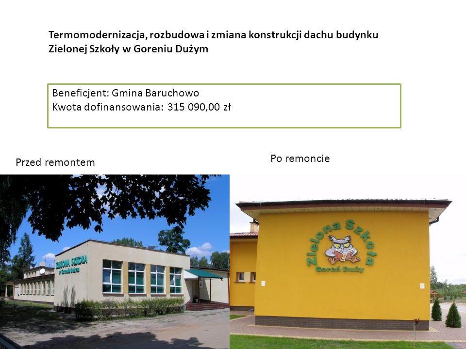 Gmina Garwolin Utworzenie Gminnego Centrum Animacji Kultury i Sportu w Sulbinach Przed remontem Po remoncie Termomodernizacja, rozbudowa i zmiana kons