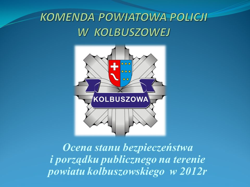 Ocena stanu bezpieczeństwa i porządku publicznego na terenie powiatu kolbuszowskiego w 2012r