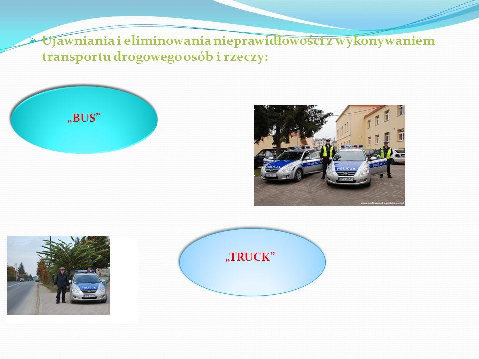 Ujawniania i eliminowania nieprawidłowości z wykonywaniem transportu drogowego osób i rzeczy: BUS TRUCK