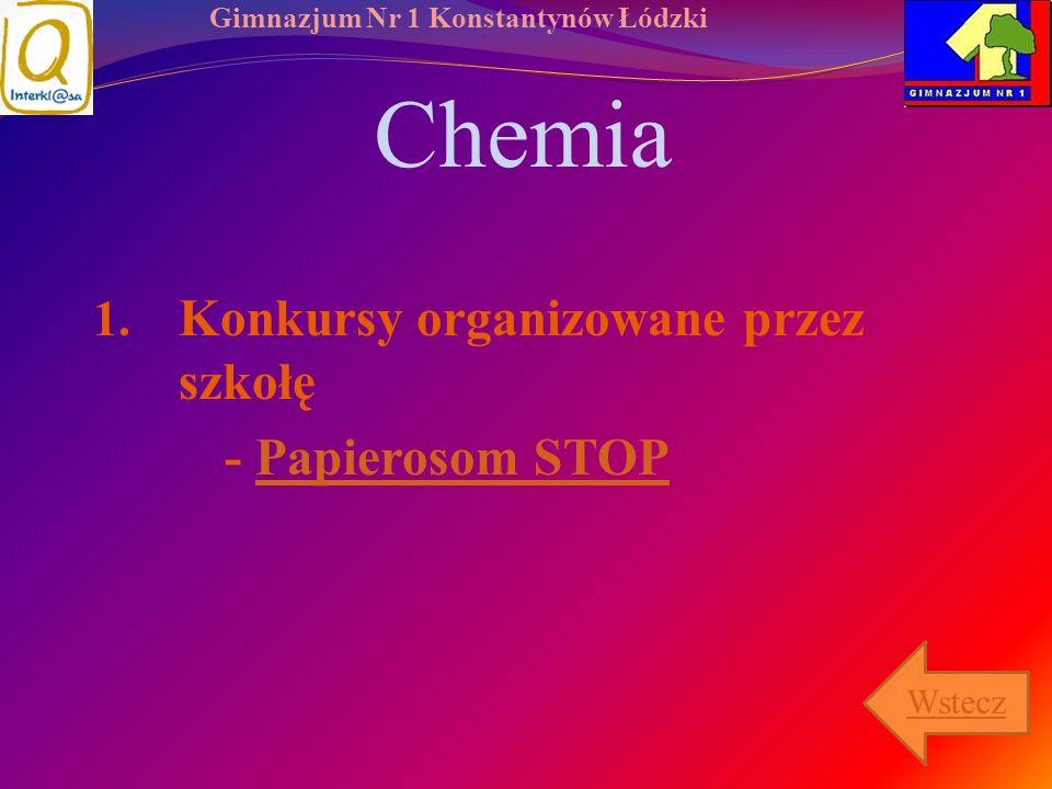 Gimnazjum Nr 1 Konstantynów Łódzki Chemia 1. Konkursy organizowane przez szkołę - Papierosom STOPPapierosom STOP Wstecz