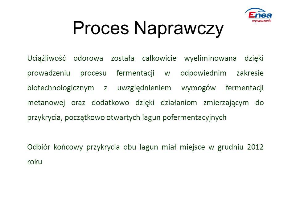 Proces Naprawczy Uciążliwość odorowa została całkowicie wyeliminowana dzięki prowadzeniu procesu fermentacji w odpowiednim zakresie biotechnologicznym