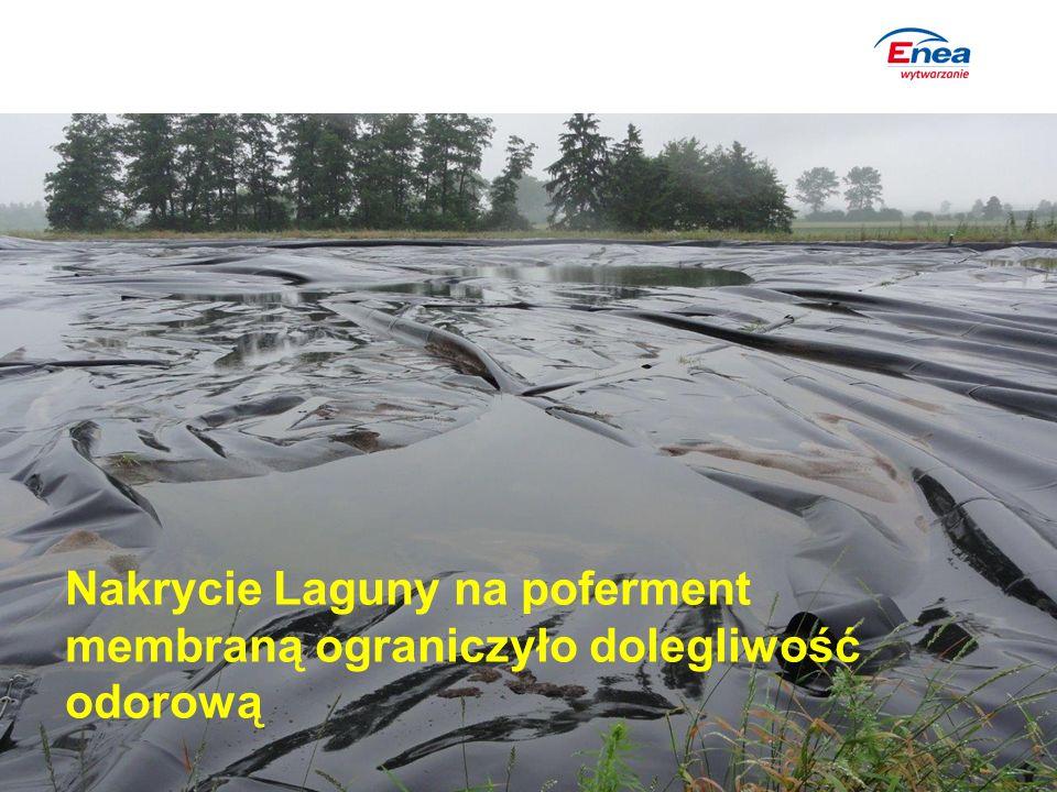Nakrycie Laguny na poferment membraną ograniczyło dolegliwość odorową