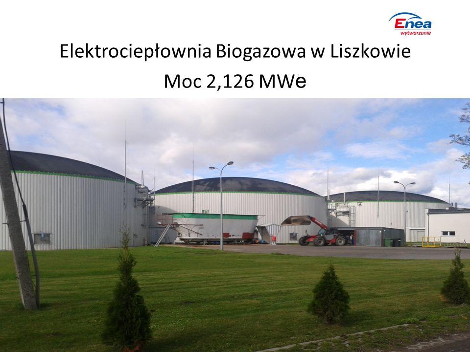 Elektrociepłownia Biogazowa w Liszkowie Moc 2,126 MW e