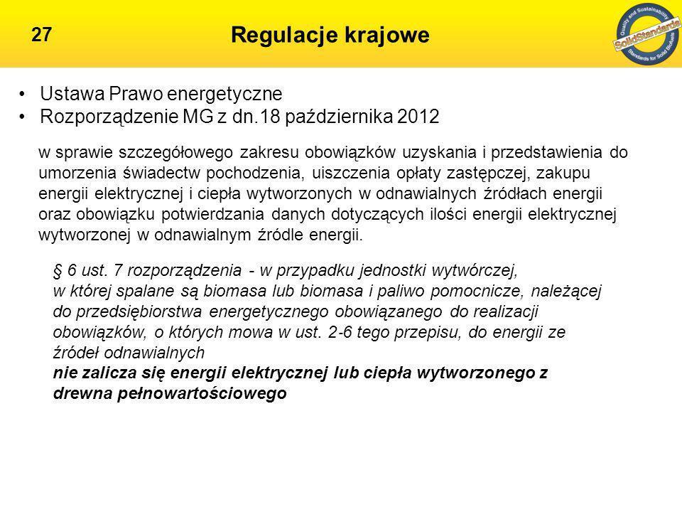 Spalanie biomasy 28 Informacja nr 13 /2013 Prezesa URE w sprawie kwalifikacji drewna oraz materiału drzewnego, w kontekście regulacji dotyczących systemu wsparcia OZE Informacja URE ws wydania świadectw pochodzenia dla jednostek spalających biomasę: Brak dokumentów potwierdzających pochodzenie drewna Zawartość substancji/frakcji/dodatków nie spełniających wymagań określonych w definicji biomasy wdrażanie kontroli pochodzenia dostaw w oparciu o normę PN-EN 15 234:1 Biopaliwa stałe – Zapewnienie jakości paliwa
