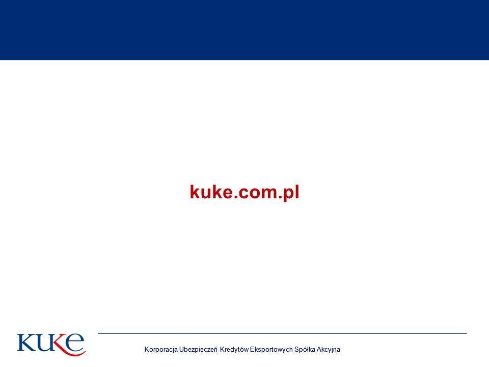 Korporacja Ubezpieczeń Kredytów Eksportowych Spółka Akcyjna kuke.com.pl