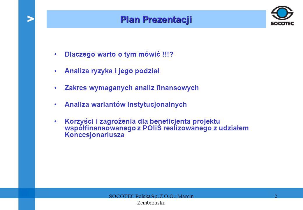 2 Plan Prezentacji Dlaczego warto o tym mówić !!!? Analiza ryzyka i jego podział Zakres wymaganych analiz finansowych Analiza wariantów instytucjonaln