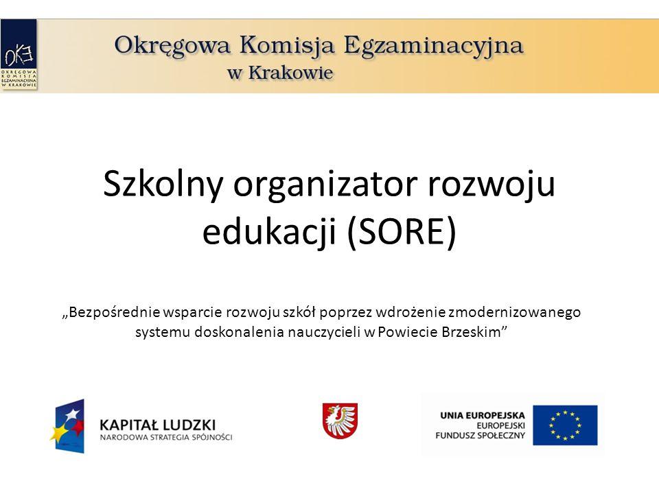Szkolny organizator rozwoju edukacji (SORE) Bezpośrednie wsparcie rozwoju szkół poprzez wdrożenie zmodernizowanego systemu doskonalenia nauczycieli w