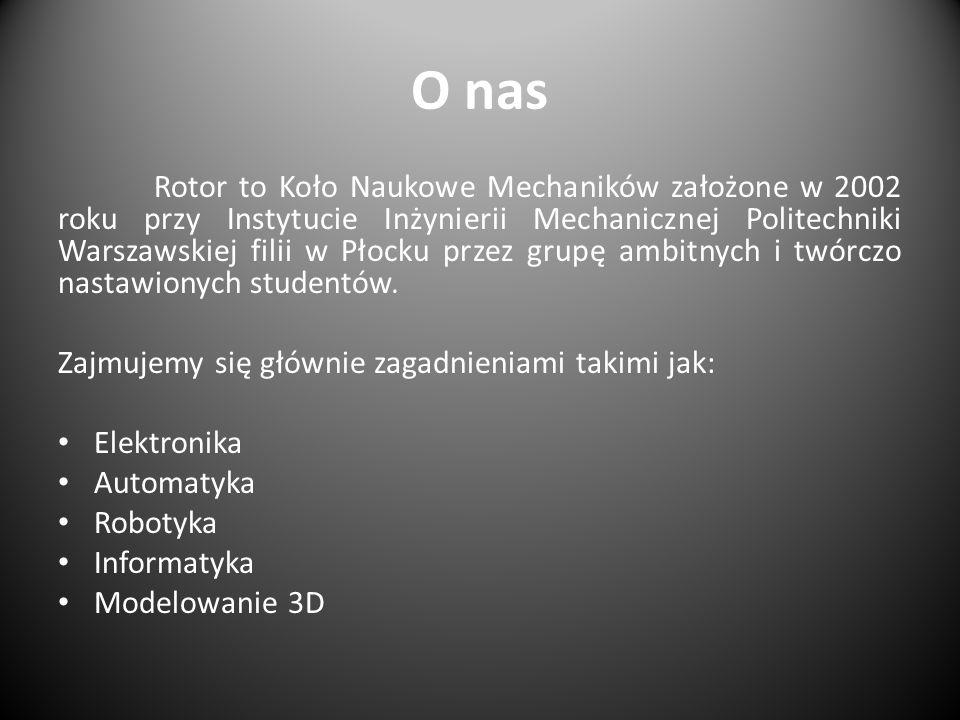O nas Rotor to Koło Naukowe Mechaników założone w 2002 roku przy Instytucie Inżynierii Mechanicznej Politechniki Warszawskiej filii w Płocku przez gru