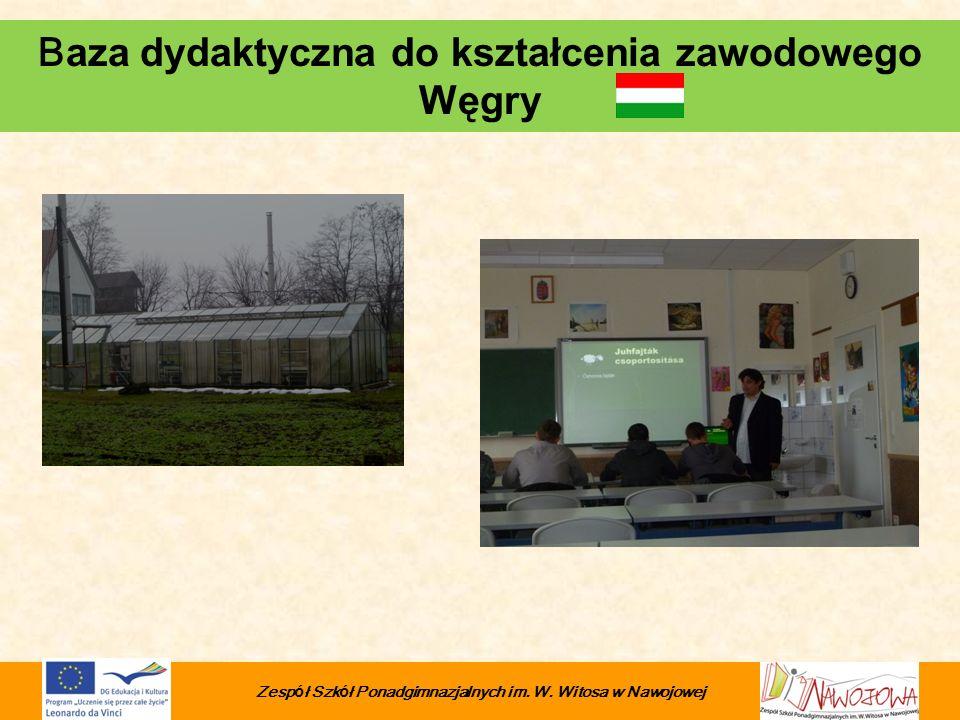 B aza dydaktyczna do kształcenia zawodowego Węgry Zesp ó ł Szk ó ł Ponadgimnazjalnych im. W. Witosa w Nawojowej