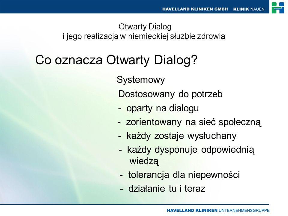 Co oznacza Otwarty Dialog.
